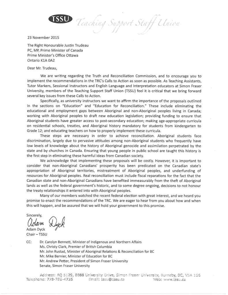 GM 2015-DEC-01 TRC letter