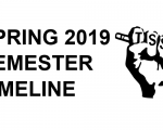2019-SPRING semester timeline marquee